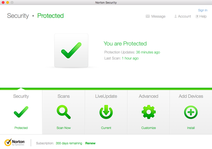 uninstall Norton AntiVirus product