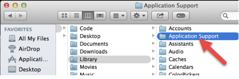 Application Support under Library folder