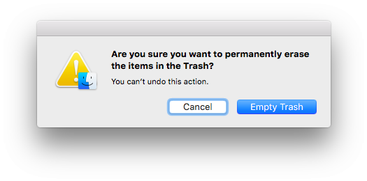 "click""Empty Trash""to delete the application"""